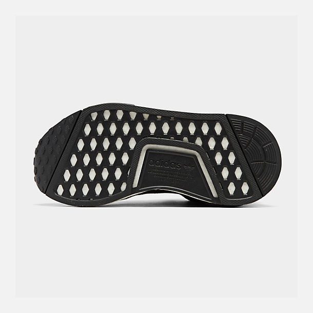 ed28e62146c00 Bottom view of Boys  Big Kids  adidas NMD R1 Casual Shoes in Core Black