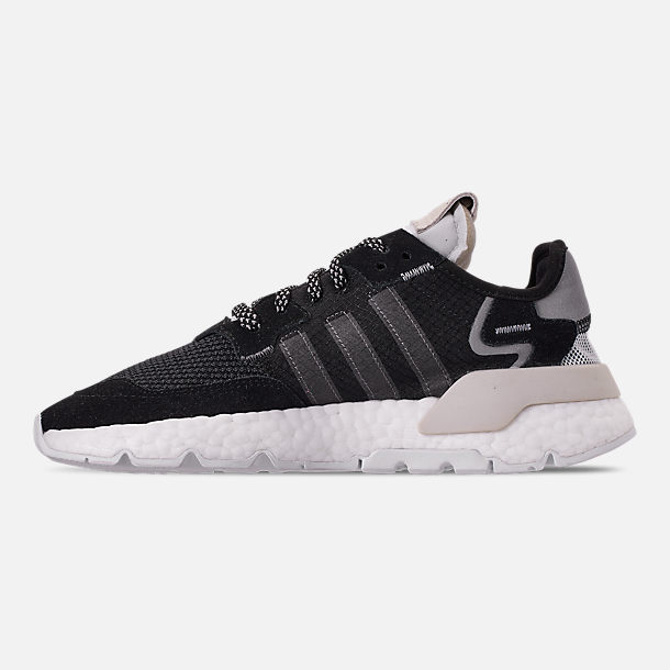 Left view of Women's adidas Originals Nite Jogger Casual Shoes in Black/Carbon/White