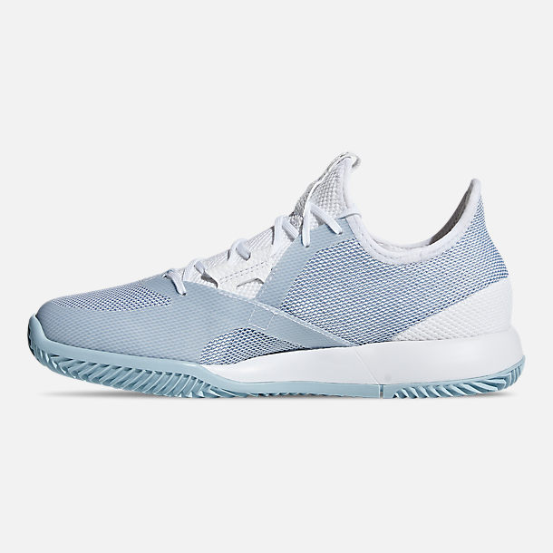 303a8c54b Left view of Women s adidas adizero Defiant Bounce Tennis Shoes in Cloud  White Ash Grey