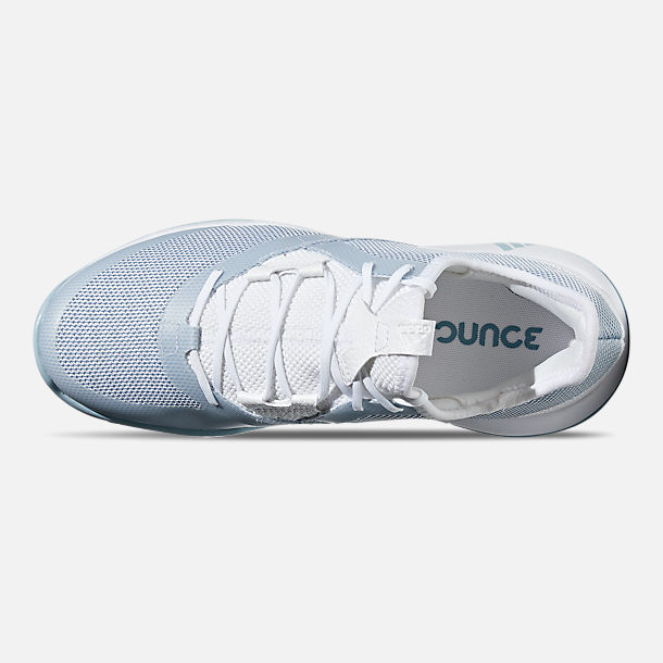 d0c1286ec Top view of Women s adidas adizero Defiant Bounce Tennis Shoes in Cloud  White Ash Grey