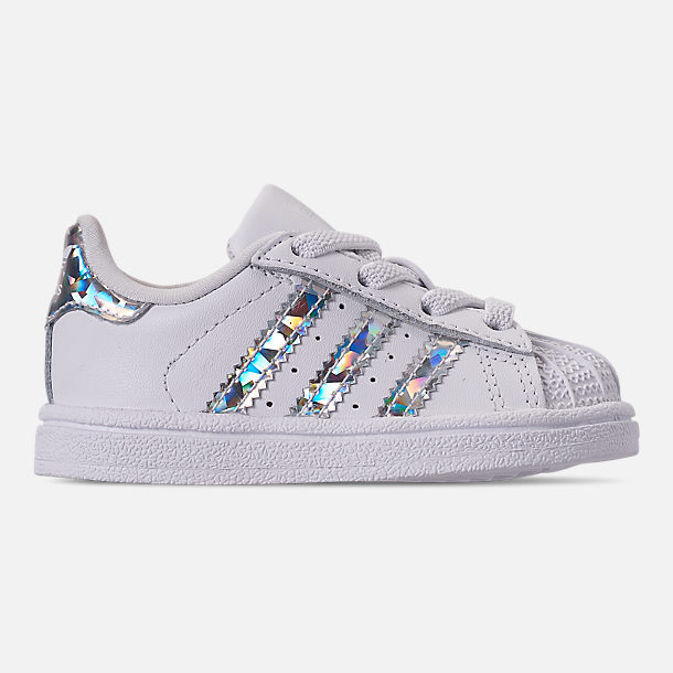 a2fa5dc97836c Right view of Girls  Toddler adidas Superstar Casual Shoes in Footwear White