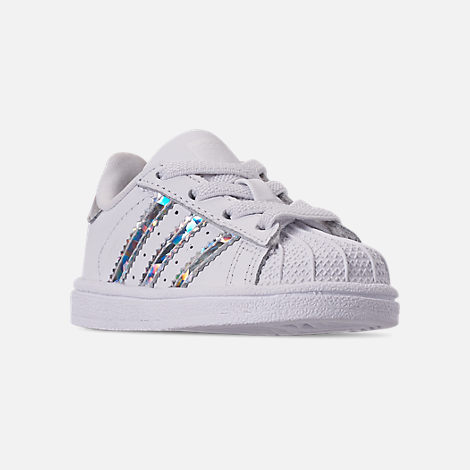Three Quarter view of Girls  Toddler adidas Superstar Casual Shoes in  Footwear White 2c58af580