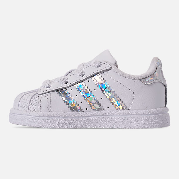 Left view of Girls  Toddler adidas Superstar Casual Shoes in Footwear White b4c9d7e6d
