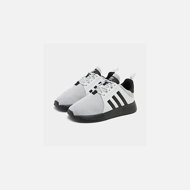 Three Quarter view of Boys' Toddler adidas Originals X_PLR Casual Shoes in Footwear White/Grey/Core Black