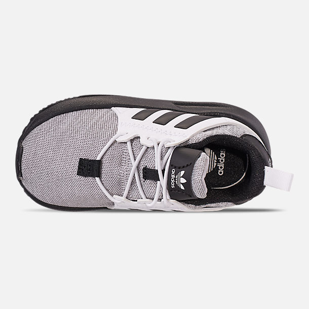 Top view of Boys' Toddler adidas Originals X_PLR Casual Shoes in Footwear White/Grey/Core Black