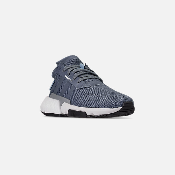 Three Quarter view of Boys' Big Kids' adidas Originals POD-S3.1 Casual Shoes in Raw Steel/Raw Steel/Reflect