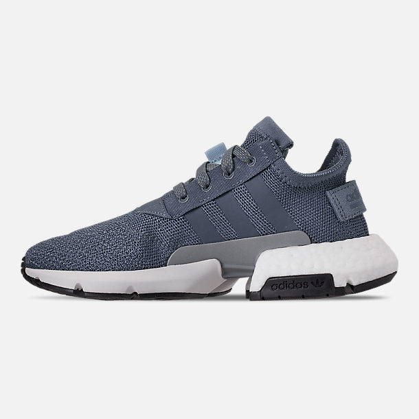 Left view of Boys' Big Kids' adidas Originals POD-S3.1 Casual Shoes in Raw Steel/Raw Steel/Reflect