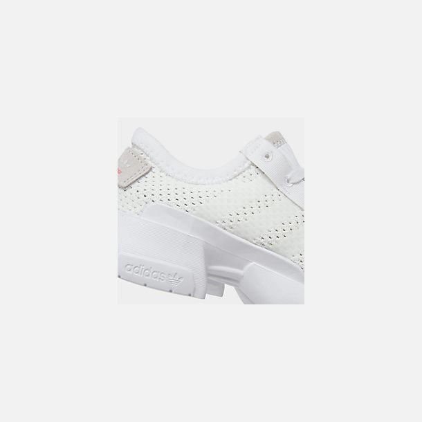 Front view of Boys' Little Kids' adidas Originals POD-S3.1 Casual Shoes in Footwear White/Shock Red