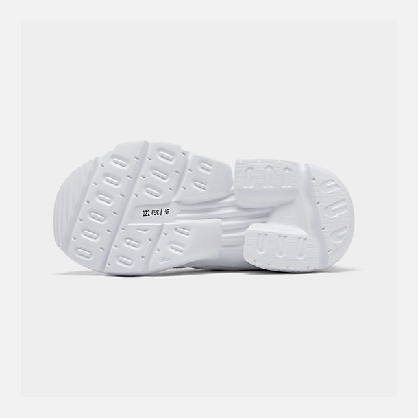 Bottom view of Boys' Little Kids' adidas Originals POD-S3.1 Casual Shoes in Footwear White/Shock Red