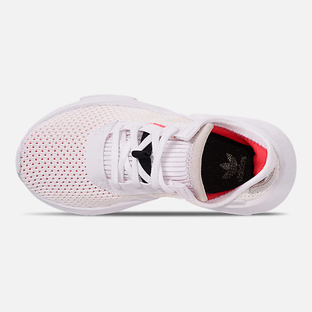 Top view of Boys' Little Kids' adidas Originals POD-S3.1 Casual Shoes in Footwear White/Shock Red