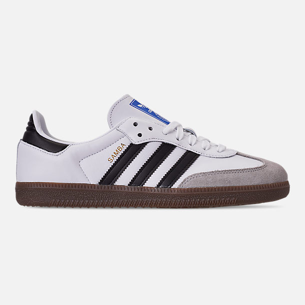 Right view of Women's adidas Originals Samba OG Casual Shoes in Cloud White/Core Black/Clear Granite