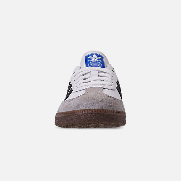 Front view of Women's adidas Originals Samba OG Casual Shoes in Cloud White/Core Black/Clear Granite