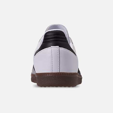 Back view of Women's adidas Originals Samba OG Casual Shoes in Cloud White/Core Black/Clear Granite