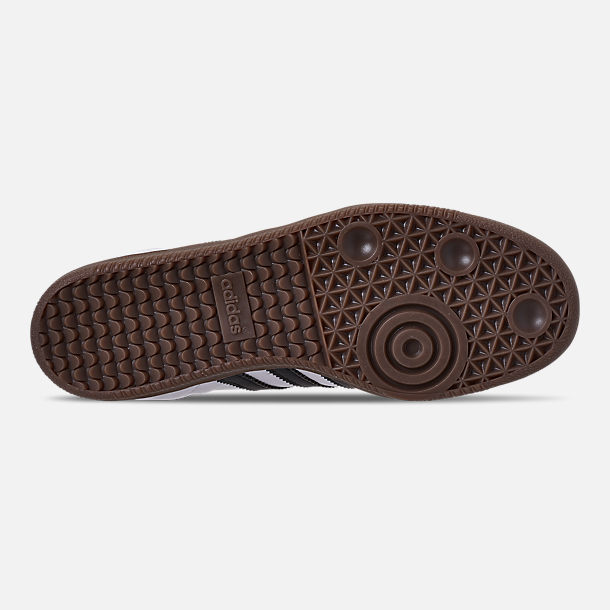 Bottom view of Women's adidas Originals Samba OG Casual Shoes in Cloud White/Core Black/Clear Granite