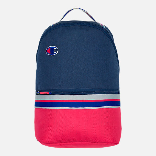 Front view of Champion Champform Backpack in Blue/Red/Grey