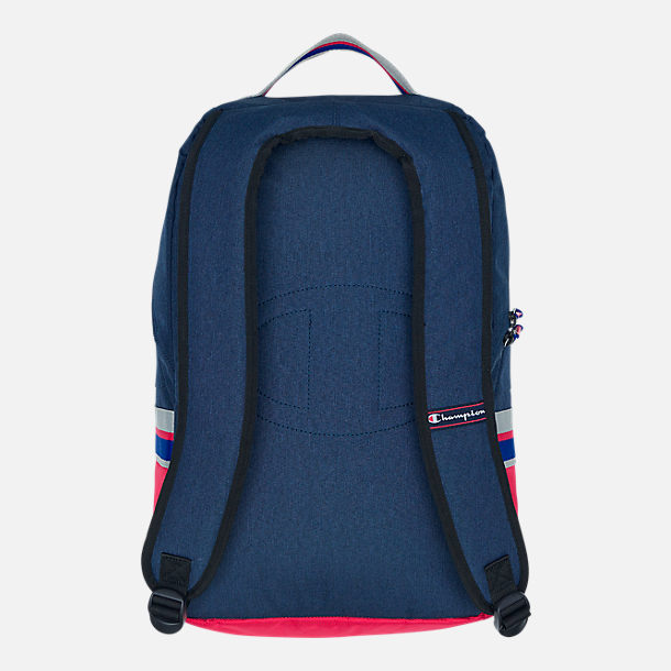 Back view of Champion Champform Backpack in Blue/Red/Grey