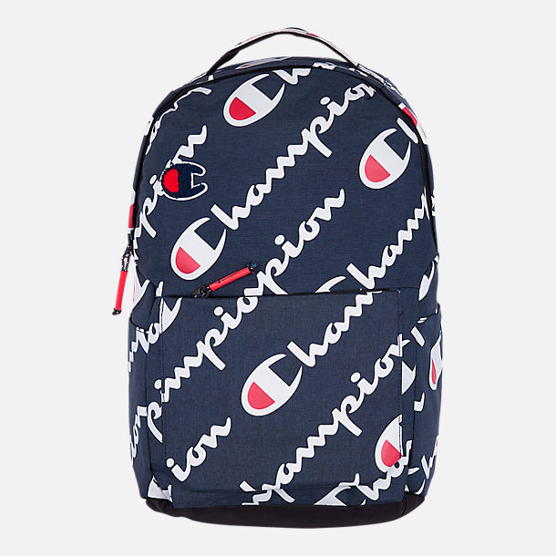 Front view of Champion Advocate Logo Backpack in Navy