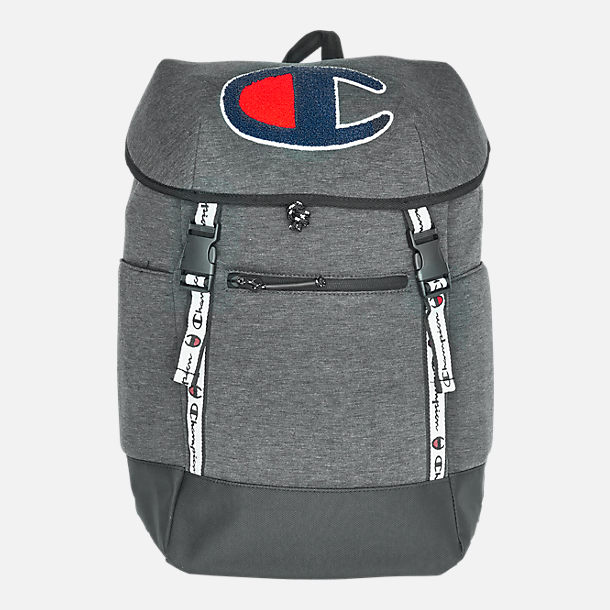 2666a828ab Front view of Champion Top Load Backpack in Dark Grey