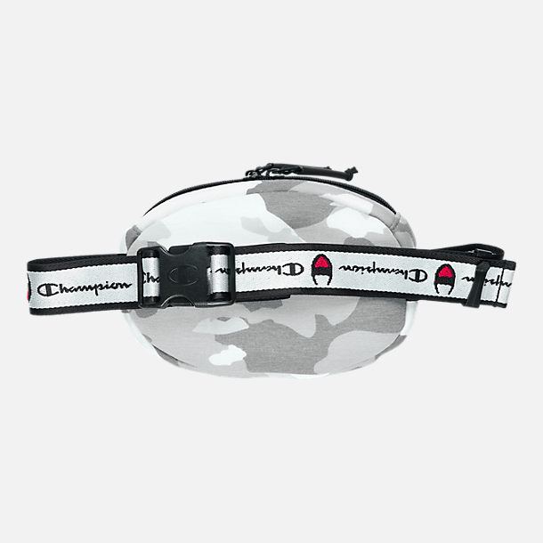 Back view of Champion Prime Logo Waist Pack in Medium Grey Camo