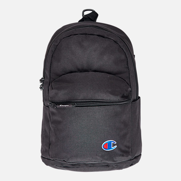 Front view of Champion Mini Supercize Backpack in Black