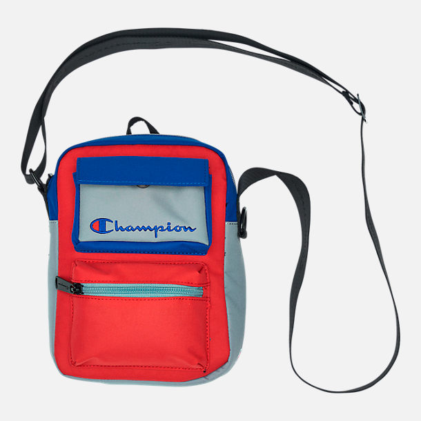 Front view of Champion Colorblock Crossbody Bag in Bright Combo