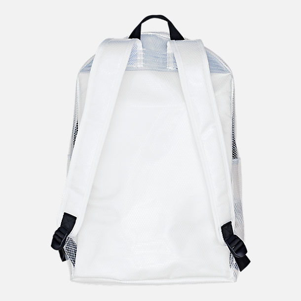 Back view of Champion Supercise Clear Backpack in Clear White