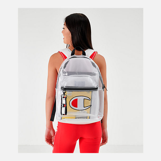Alternate view of Champion Supercise Clear Backpack in Clear White