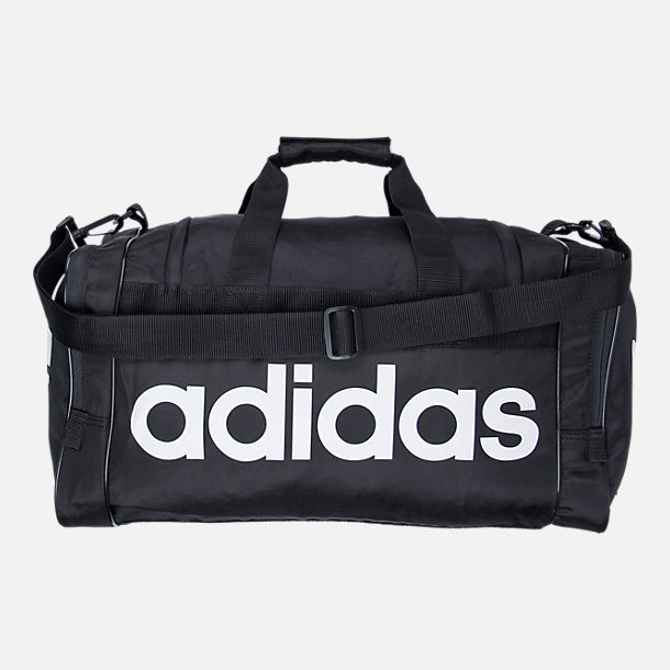 Front view of adidas Originals Santiago Duffel Bag in Black