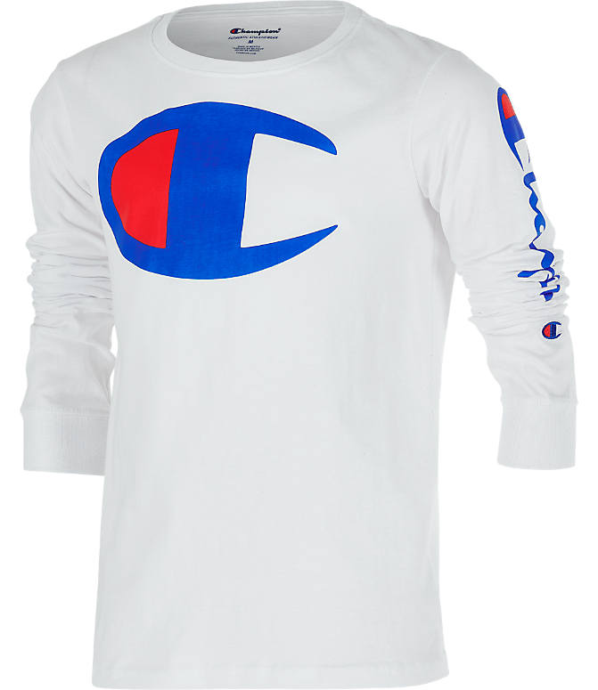 c499a1d60 Front view of Kids' Champion Heritage Logo Long Sleeve T-Shirt