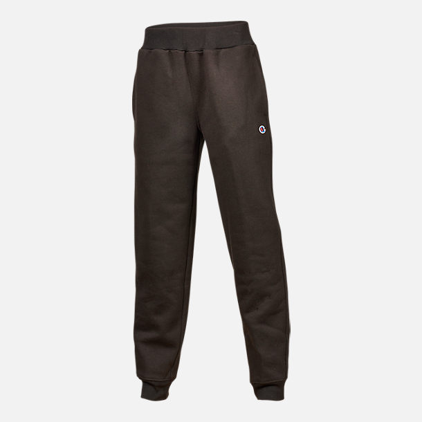 Front view of Boys' Champion Heritage Jogger Sweatpants in Black