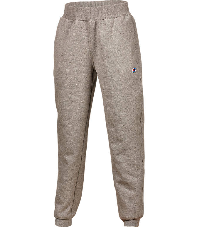 Front view of Boys' Champion Heritage Jogger Sweatpants in Grey
