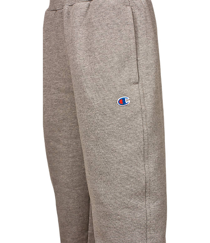 Back view of Boys' Champion Heritage Jogger Sweatpants in Grey