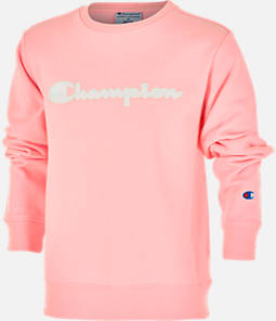 Girls' Champion Premium Fleece Script Logo Crewneck Sweatshirt