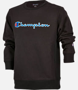 Kids' Champion Heritage HBR Script Crew Sweatshirt