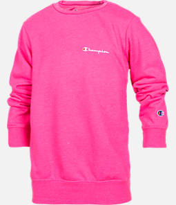 Girls' Champion Heritage Small Script Crew Sweatshirt