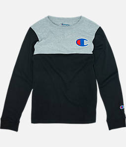 Boys' Champion Colorblock Long-Sleeve Shirt