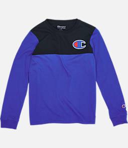 Boys' Champion Colorblock Long-Sleeve Shirt