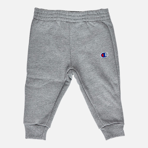 Alternate view of Infant Champion Heritage 2-Piece Hoodie and Joggers Set in Heather Grey