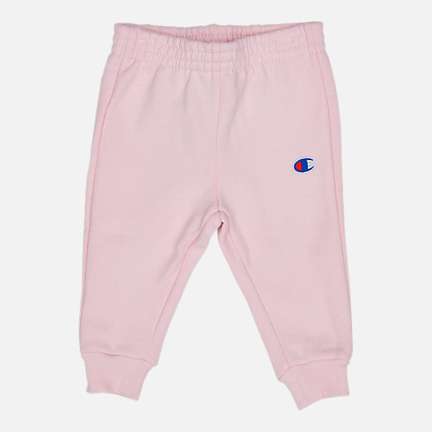 Alternate view of Infant Champion Heritage 2-Piece Hoodie and Joggers Set in Chalk Pink