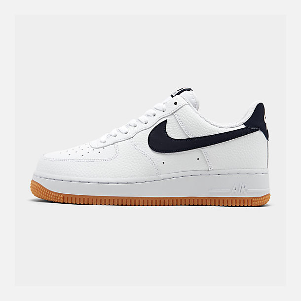 Right view of Men's Nike Air Force 1 '07 Casual Shoes in White/Obsidian/University Red