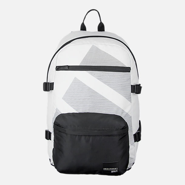 Front view of adidas Originals EQT National Backpack in White