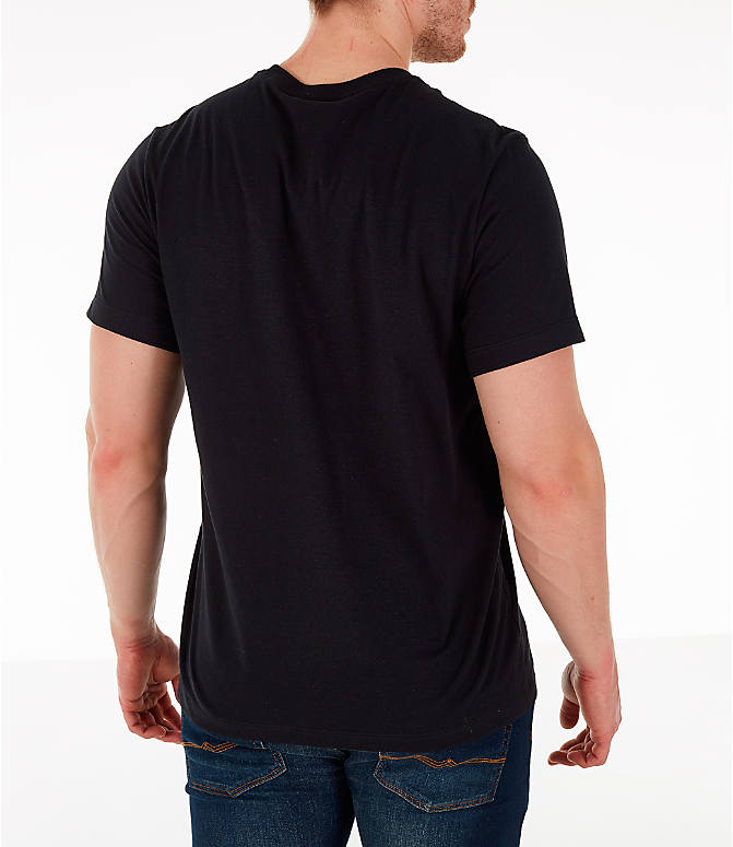 Back Right view of Men's Jordan AJ4 Retro Script T-Shirt in Black