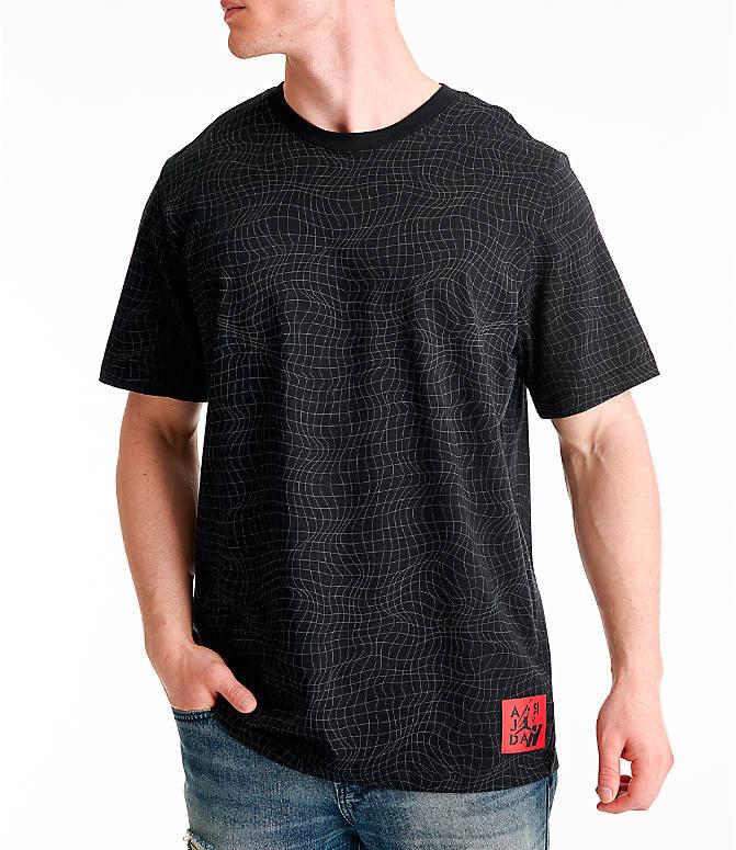 fc0eec43f088 Front view of Men s Jordan Legacy AJ4 T-Shirt in Black