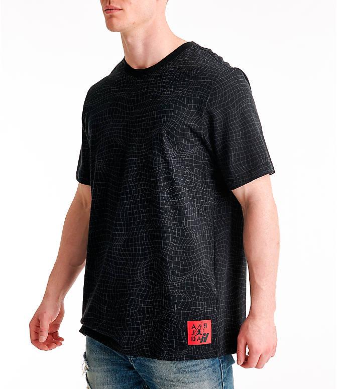 fe801c305800 Front Three Quarter view of Men s Jordan Legacy AJ4 T-Shirt in Black