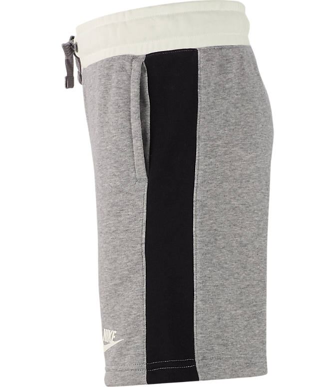 Back view of Boys' Nike Air Shorts in Dark Grey Heather/Sail