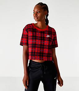Women's Nike Sportswear Plaid Cropped T-Shirt