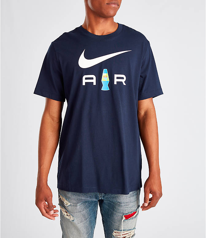 Front view of Men's Nike Sportswear Presto T-Shirt in Navy