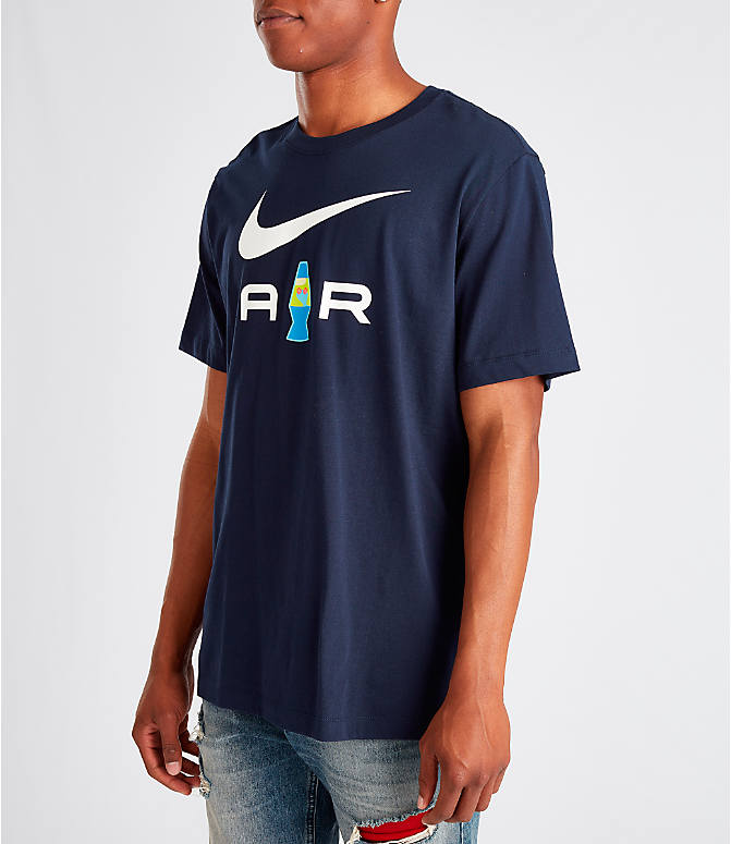 Front Three Quarter view of Men's Nike Sportswear Presto T-Shirt in Navy