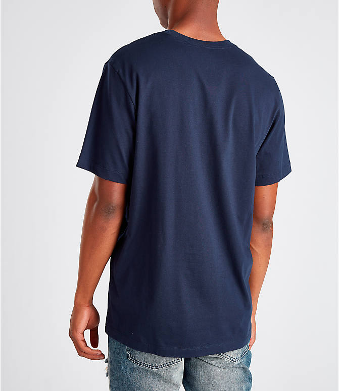 Back Left view of Men's Nike Sportswear Presto T-Shirt in Navy