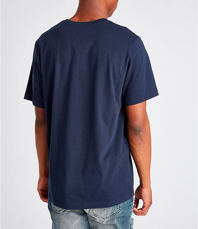 Back Right view of Men's Nike Sportswear Presto T-Shirt in Navy